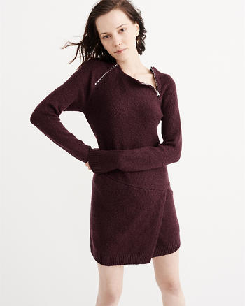 ANF Asymmetrical Hem Sweater Dress