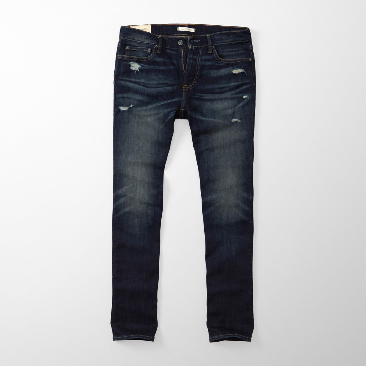 Ripped Slim Straight Jeans
