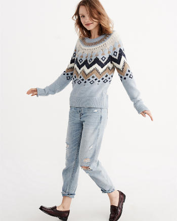 ANF Fair Isle Pullover Sweater