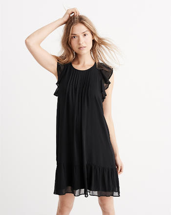 ANF Ruffle Swing Dress