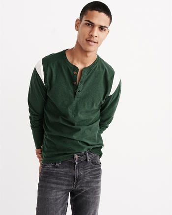 ANF Long-Sleeve Athletic Henley