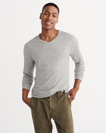 ANF Long-Sleeve V-Neck Tee