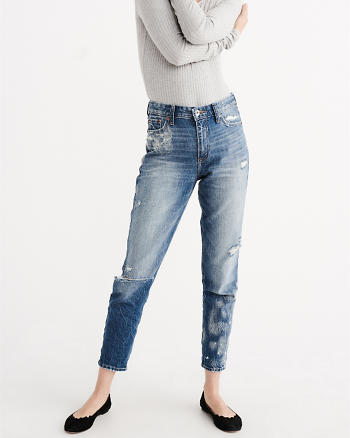 ANF High Rise Girlfriend Jeans