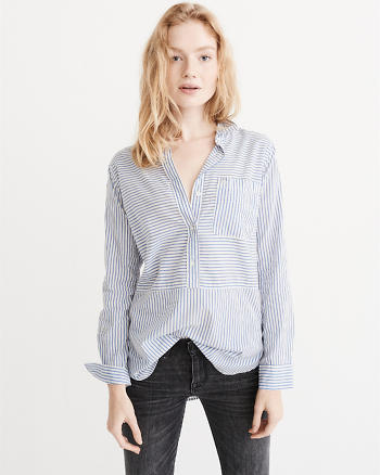 ANF Mixed Stripe Shirt