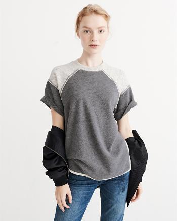 ANF Short Sleeve Crew Sweatshirt