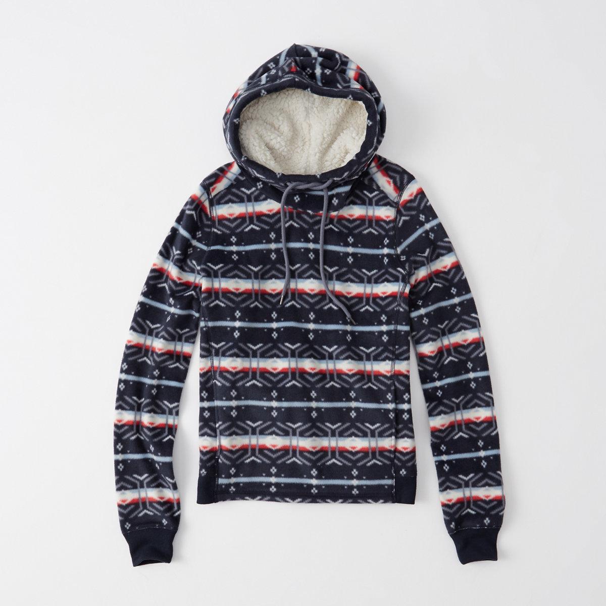 Pattern Fleece Hoodie