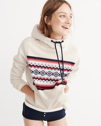 ANF Pattern Fleece Hoodie