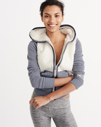 ANF Quilted Sherpa Hoodie