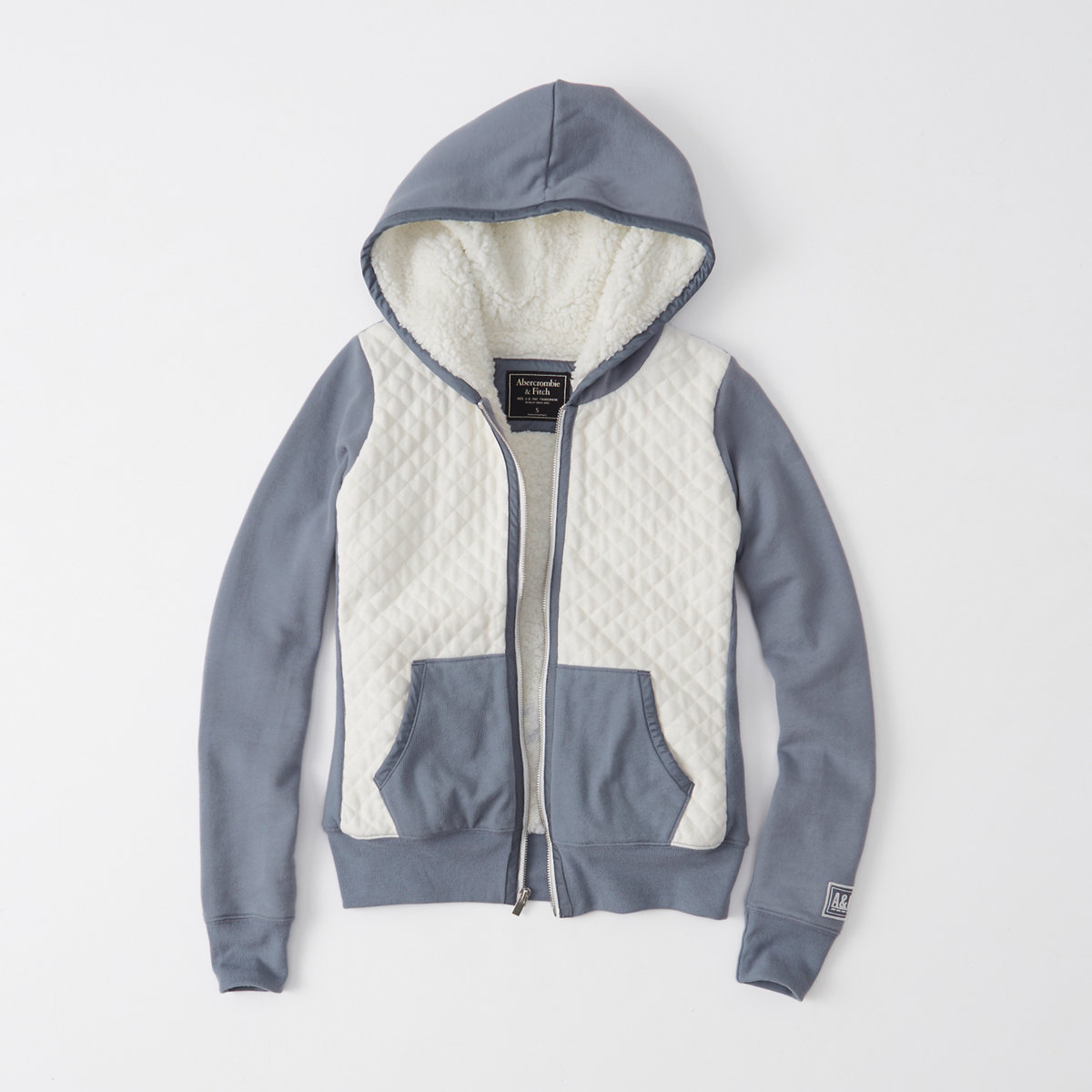 Quilted Sherpa Hoodie