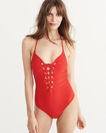 ANF Lace-Up One Piece