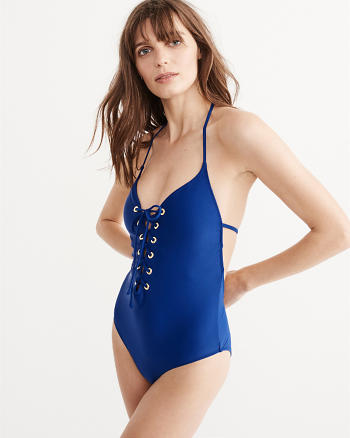 ANF Lace-Up Front One Piece