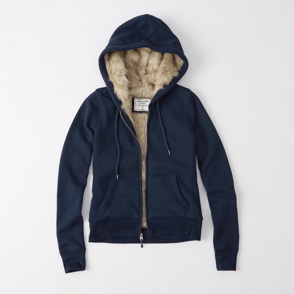 Faux Fur Full-Zip Hoodie