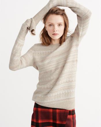ANF Shine Fairisle Pullover Sweater