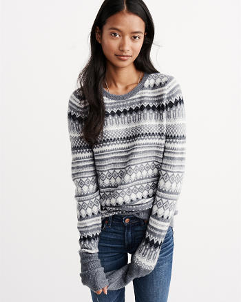 ANF Shine Fairisle Pullover Sweater