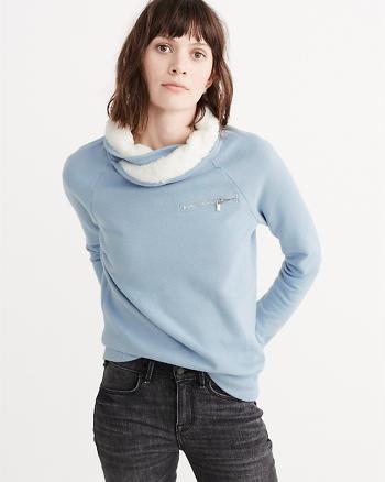 ANF Sherpa Pullover Sweatshirt