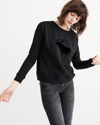 ANF Embellished Crew Sweatshirt