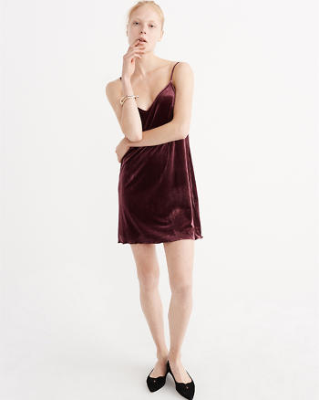 ANF Velvet Slip Dress