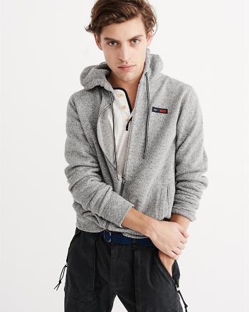 ANF Sweater Fleece Full-Zip Hoodie