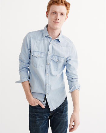 ANF Western Denim Shirt
