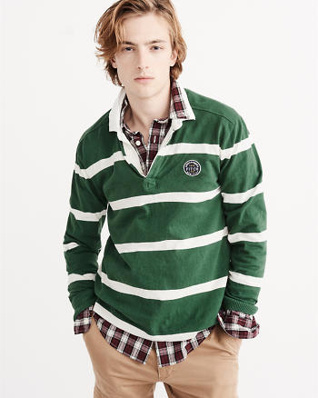 ANF Long-Sleeve Rugby Polo