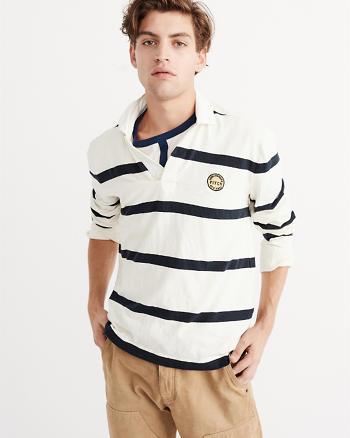 ANF Long Sleeve Rugby Polo