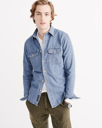 ANF Pocket Denim Shirt