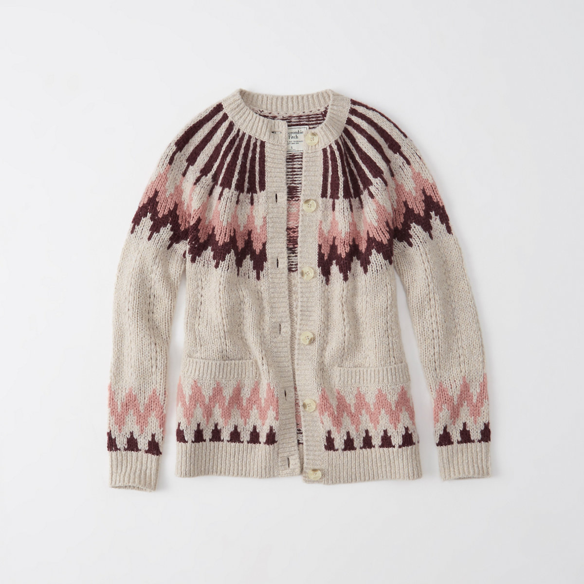 Fair Isle Button-Up Cardigan