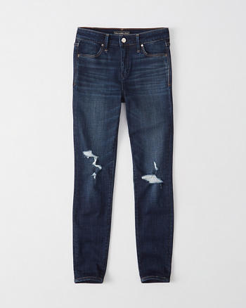 ANF Ripped Super Skinny Ankle Jeans