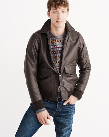 ANF Leather Flight Jacket