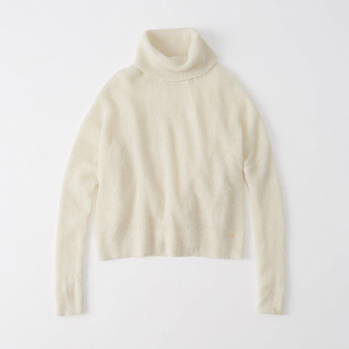 Mohair Blend Turtleneck Sweater