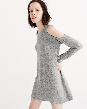 ANF Cold Shoulder Swing Dress
