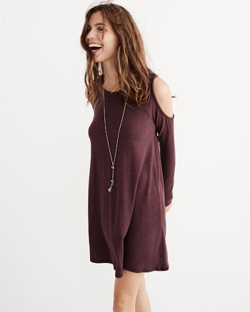 ANF Cold Shoulder Swing Dress