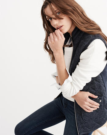 ANF Quilted Front Vest