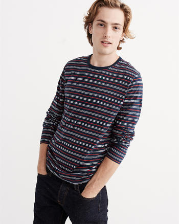 ANF Striped Long-Sleeve Tee