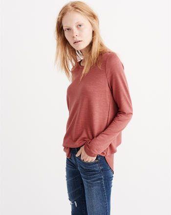 ANF Tulip Back Long-Sleeve Tee