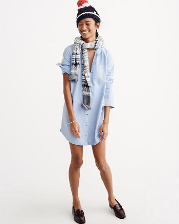 ANF Long Sleeve Shirtdress