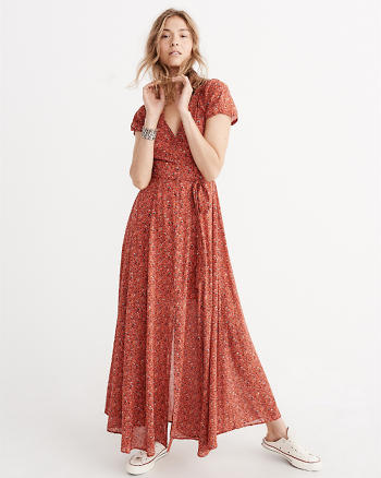 ANF Short Sleeve Maxi Dress