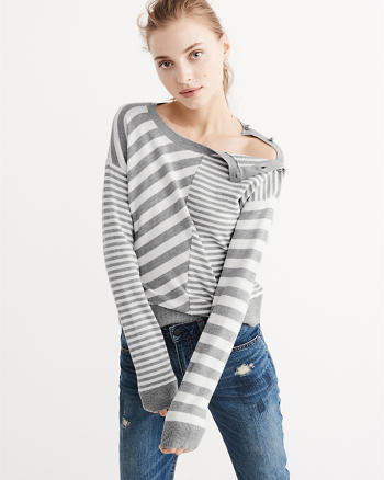 ANF Mix Stripe Sweater