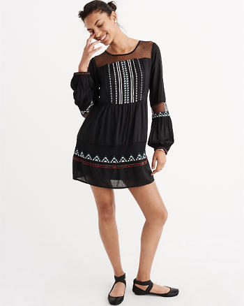 ANF Beaded Boho Dress