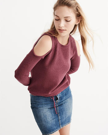 ANF Cold Shoulder Sweater