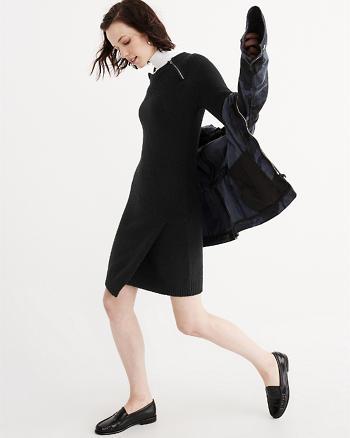 ANF Asymmetrical Zip Sweater Dress
