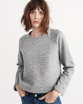 ANF Quilted Crew Sweatshirt