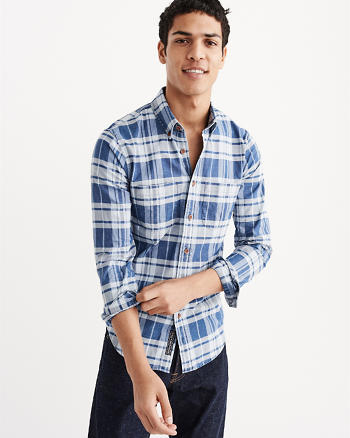 ANF Plaid Oxford Shirt