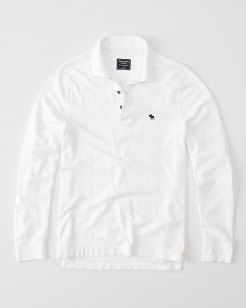 ANF Long Sleeve Pique Polo