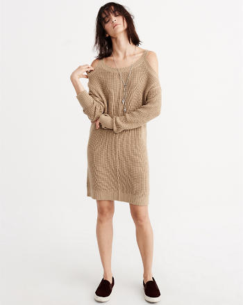 ANF Cold Shoulder Sweater Dress