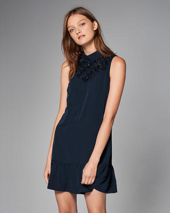 ANF High-Neck Drop Waist Dress