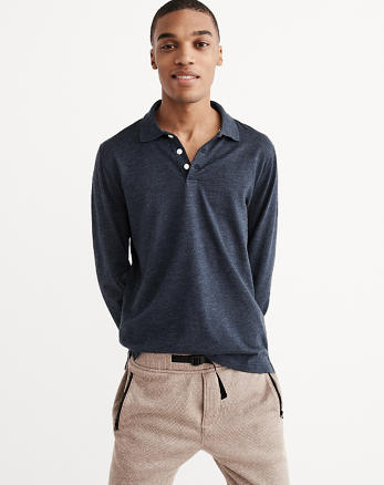 ANF Long-Sleeve Sweater Knit Polo