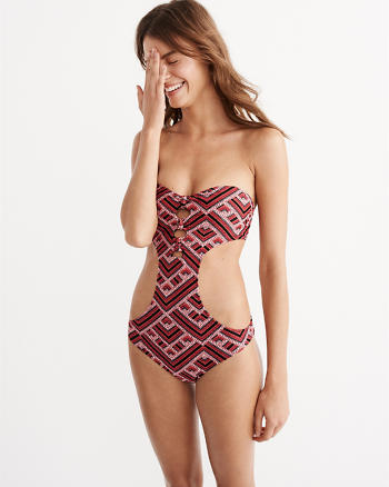 ANF Knot Cutout One-Piece Swimsuit
