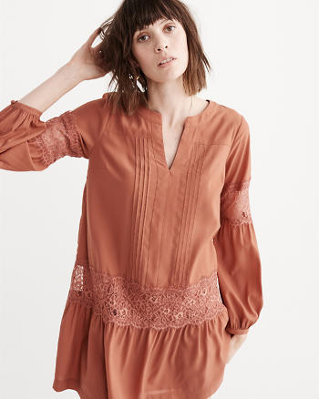 ANF Lace Drop Waist Dress