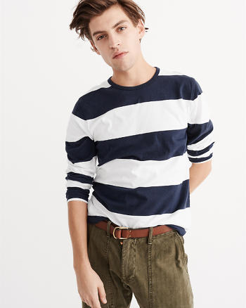 ANF Long-Sleeve Striped Tee